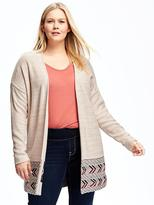 Old Navy Cocoon Open-Front Plus-Size Jacquard Sweater