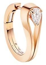 Repossi Serti Inverse 18K Rose Gold & Diamond Single Hoop Earring