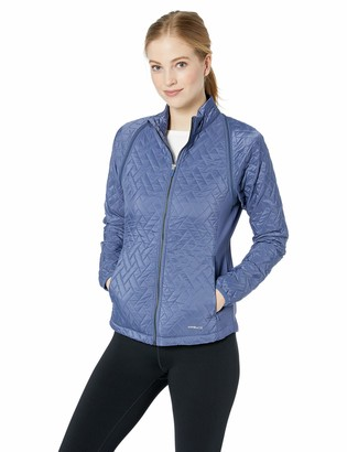 Cutter & Buck Women's Weathertec Hybrid Quilted Propel 2-in-1 Mock Jacket Vest