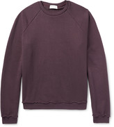 John Elliott - Raw-edged Loopback Cotton-jersey Sweatshirt