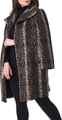 Bernardo Snakeskin Print Coat