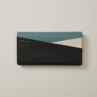 Love & Lore Love And Lore Black And Ivory Trooper Colour Block Travel Wallet