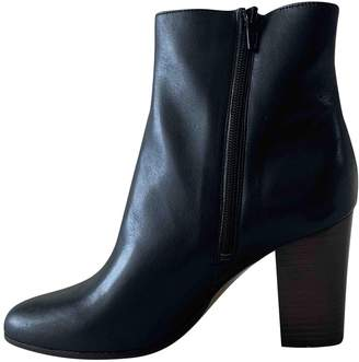 Maje Fall Winter 2019 Black Leather Ankle boots