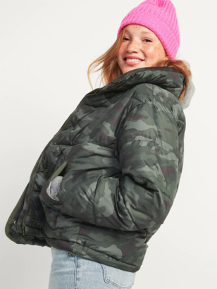 Old Navy Camo Quilted Utility Puffer Jacket for Women