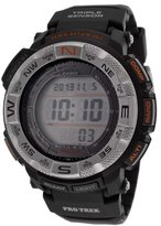 Casio Men's Pro Trek Digital Multi-Function Black Resin
