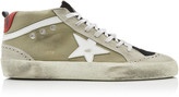 Golden Goose Mid Star Distressed Suede And Rubber Sneakers