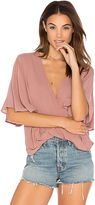 Blue Life Waterfall Blouse in Pink
