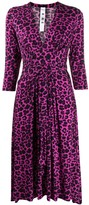 Ultràchic leopard print midi dress