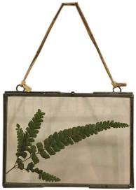 Nkuku Small Landscape Zinc Kiko Frame - Natural/Glass/Grey