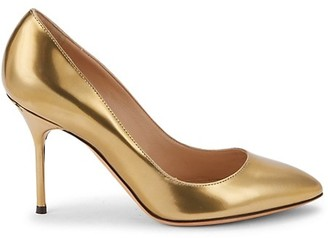 Sergio Rossi Point-Toe Leather Pumps