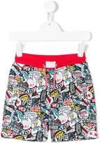 Little Marc Jacobs badges print shorts