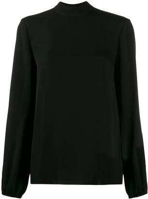Theory High Standing Collar Blouse