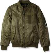 Southpole Big Boys' Ma-1 Bomber Flight Jacket with Biker Detail