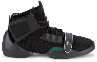 Giuseppe Zanotti Hi-Top Leather & Knit Sneakers