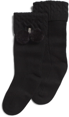 Pom Pom Short Rain Boot Socks