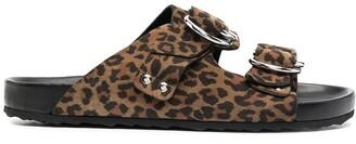 Pierre Hardy Leopard-Print Sandals