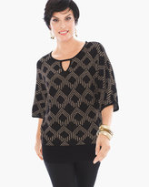 Chico's Gail Keyhole Pullover