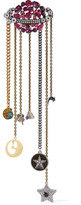 Marc Jacobs Gold And Silver-tone Crystal Brooch - Metallic