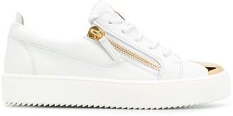 Giuseppe Zanotti Zip Detail Logo Sneakers