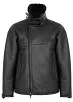 J.lindeberg Black Shearling-lined Leather Jacket