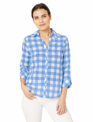 Foxcroft Women's Plus Size Dara Gingham Shirt