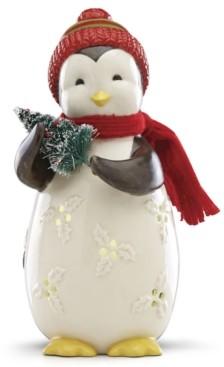 Lenox Merry & Light Lit Penguin Figurine