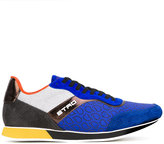 Etro contrast panel sneakers - men - Calf Leather/Polyester/rubber - 40