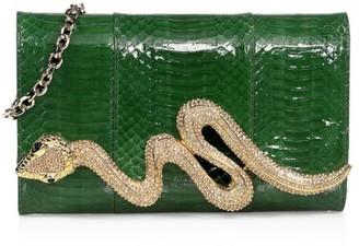 Judith Leiber Couture Serpent Snakeskin Clutch