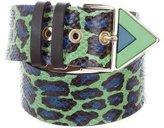 Kenzo Leopard Print Snakeskin Belt