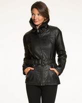 Le Château Faux Leather Zip Front Jacket