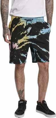 Urban Classics Men's Sweat Tie Dye Batik Shorts