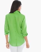 Chico's Linen Button-Back Shirt