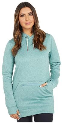 Burton Oak Long Hoodie Pullover (True Black Heather 1) Women's Sweatshirt