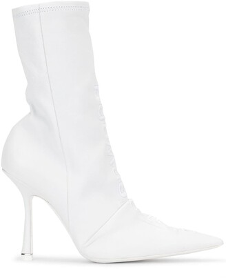 Alexander Wang Vanna embroidered ankle boots