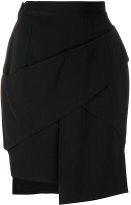 Versace Pre-Owned Asymmetric Short Skirt