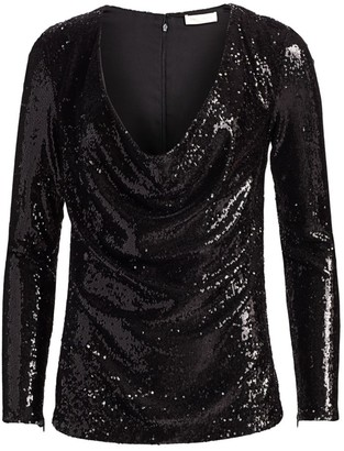 Ramy Brook Ash Sequin Ruch Top