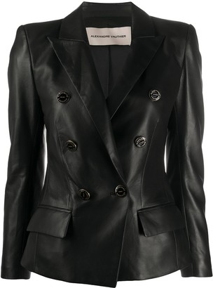 Alexandre Vauthier Double-Breasted Matte Blazer