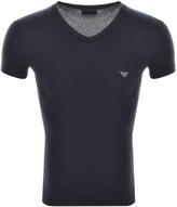 Giorgio Armani Emporio V Neck T Shirt Navy