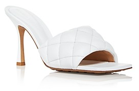 Bottega Veneta Women's Quilted High Heel Slide Sandals