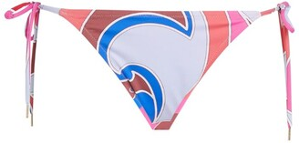 Emilio Pucci Side-Tie Sirens Song Bikini Bottoms