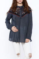 Free People Navy Long Sleeve Tunic