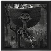 PTM Images Skeleton in Hat Framed Print
