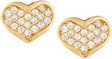 Tai Golden CZ Heart Stud Earrings
