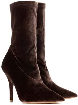 Yeezy Velvet ankle boots (SEASON 5)