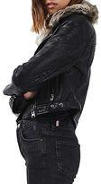 Topshop TALL Honey Faux Leather Biker Jacket