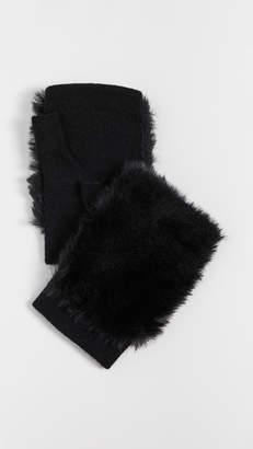 Carolina Amato Faux Fur Fingerless Gloves