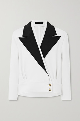 Proenza Schouler Two-tone Wool-blend Blazer - White