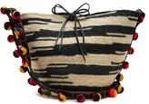 SENSI STUDIO Akela pompom-embellished sisal cross-body bag