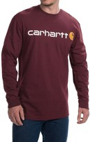 Carhartt Signature Logo T-Shirt - Long Sleeve (For Big and Tall Men)