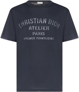 Christian Dior Logo Print Oversized T-Shirt